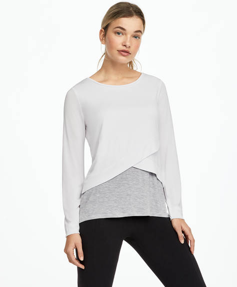 Double long-sleeved modal T-shirt