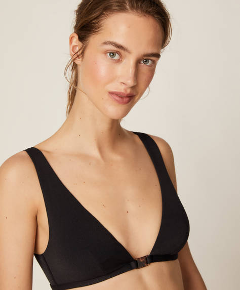 Structured black bikini top