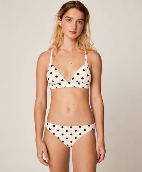 Klassischer Bikinislip mit Punkten