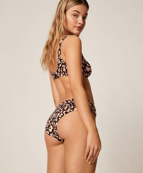 Leopar desenli klasik bikini altı