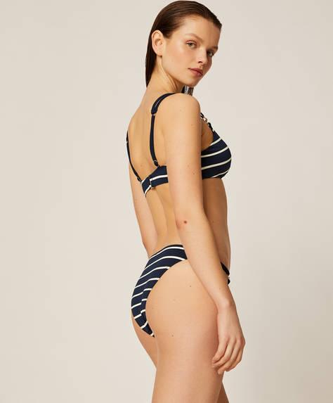 Brazilian Bikinislip mit maritimen Streifen