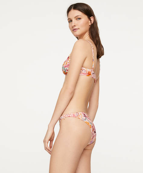 Indian floral Brazilian bikini briefs