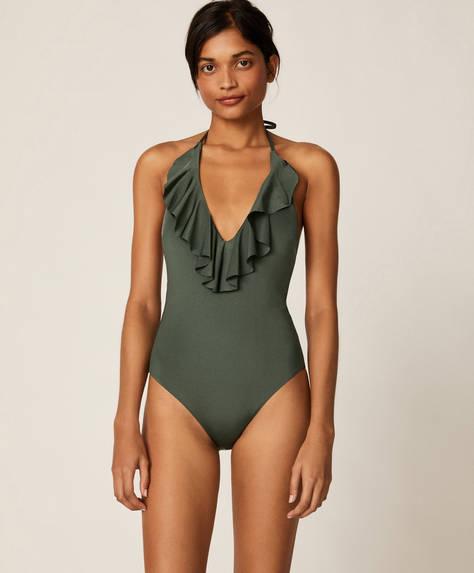 Ruffle triangle swimsuit