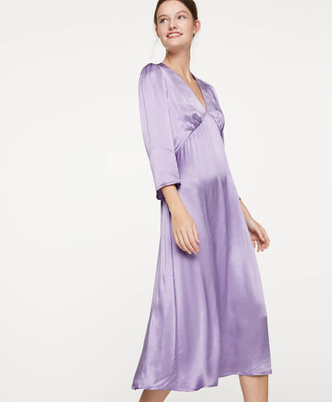 Mauve satin dress