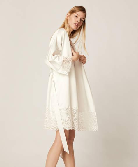 Lace lingerie bath robe