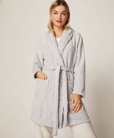 Grey moon bath robe