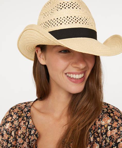 Cappello da cowboy rafia