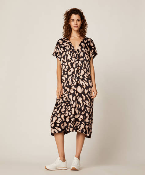 Leopard spot long tunic
