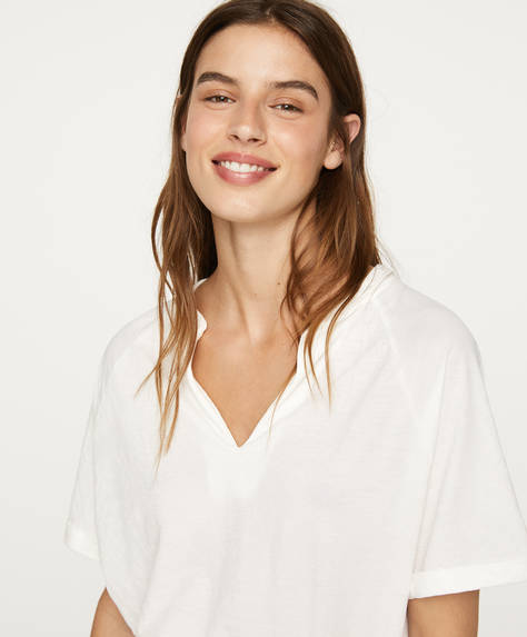 Shirt met mao-kraag