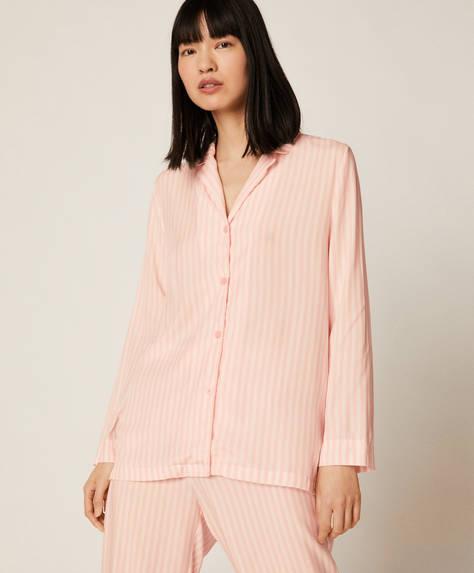 Chemise à rayures rose