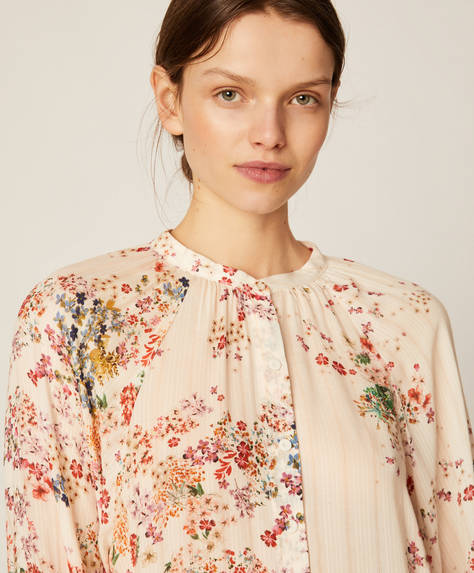 Multicolour ditsy floral shirt