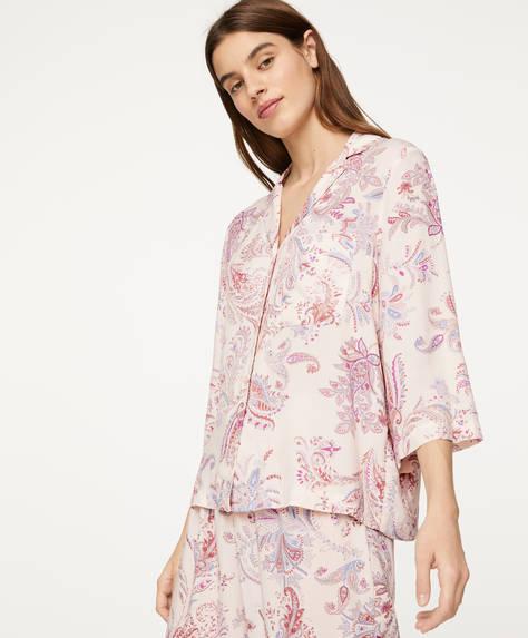 Camisa cachemire fondo rosa