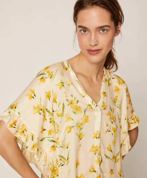 Camisa flor amarilla