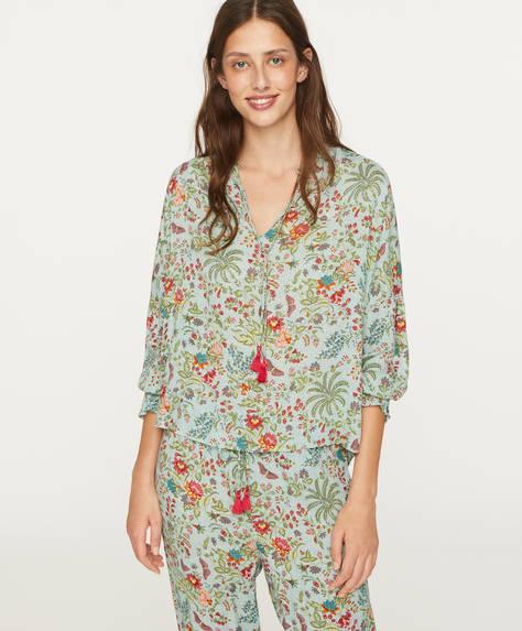 Indian floral shirt