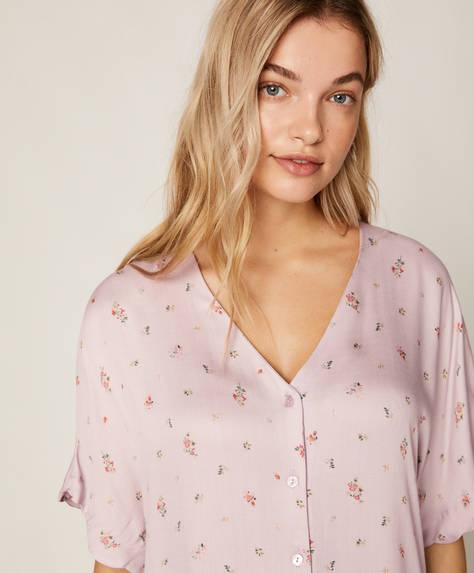 Mauve floral shirt