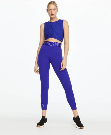 Purple logo shapewear leggings