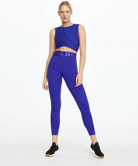 Purple logo compression leggings