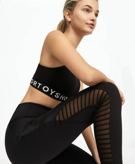 Panel biker leggings