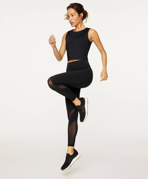 Legging sculptant avec transparences