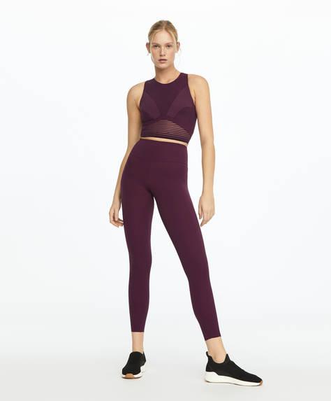 Purple compression leggings