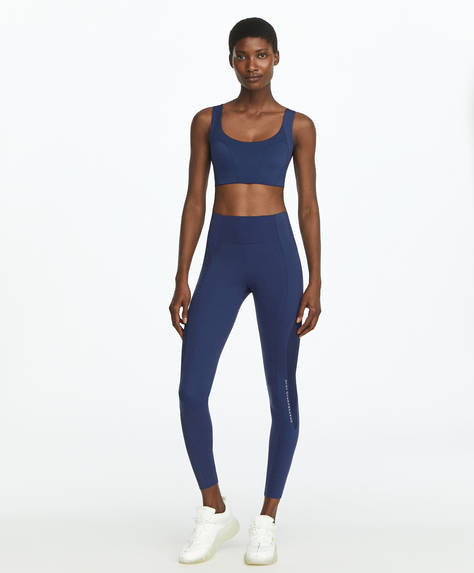 Mesh block compression leggings