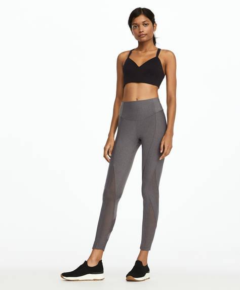 Mesh block leggings