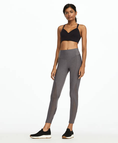 Mesh block leggings
