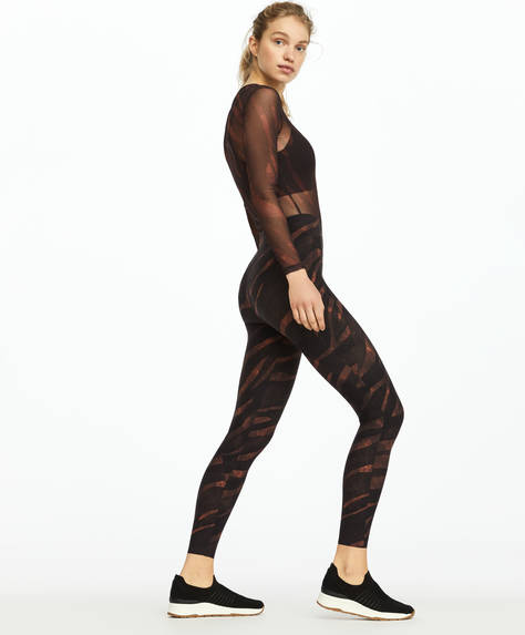 Leggings a compressione animalier