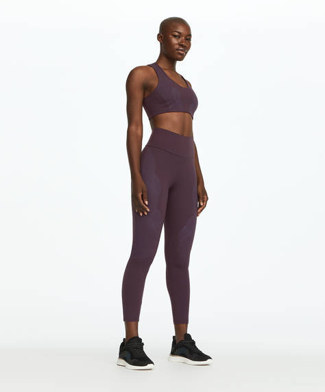 Legging gainant violet
