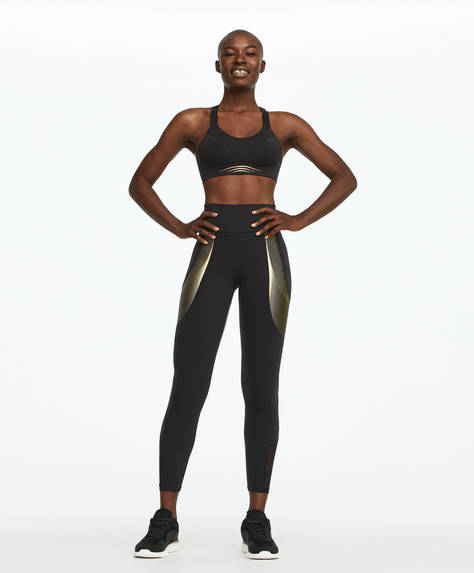 Gold line compression leggings
