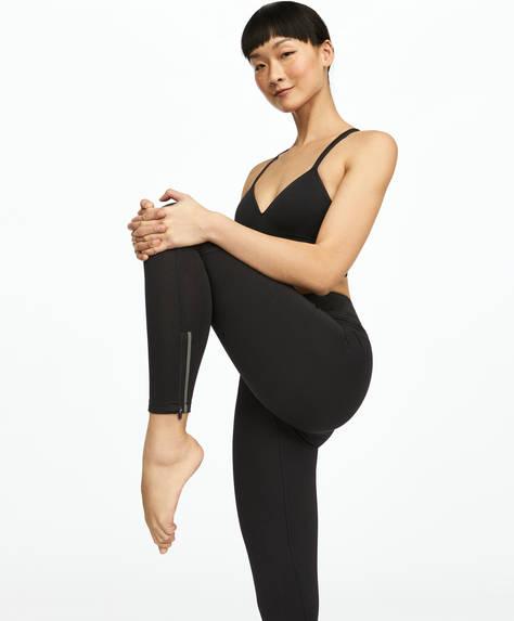 Plain leggings with zips