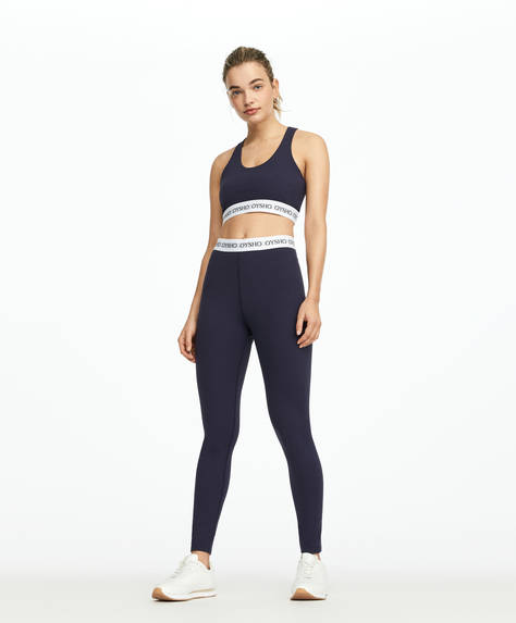 Leggings basic elastico logo