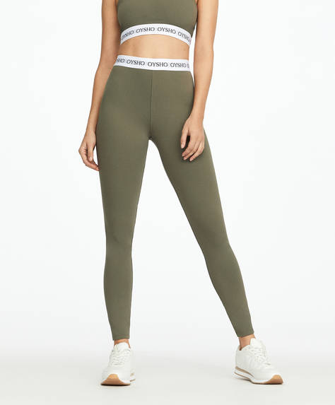 Basic logo stretch waistband leggings