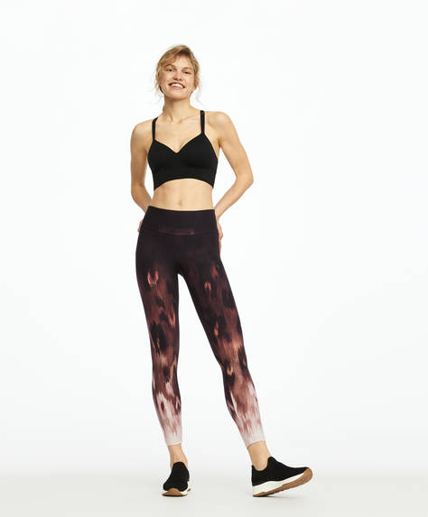 Animal print compression leggings