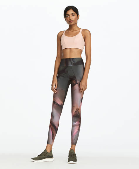 Leggings estampado abstracto rosa