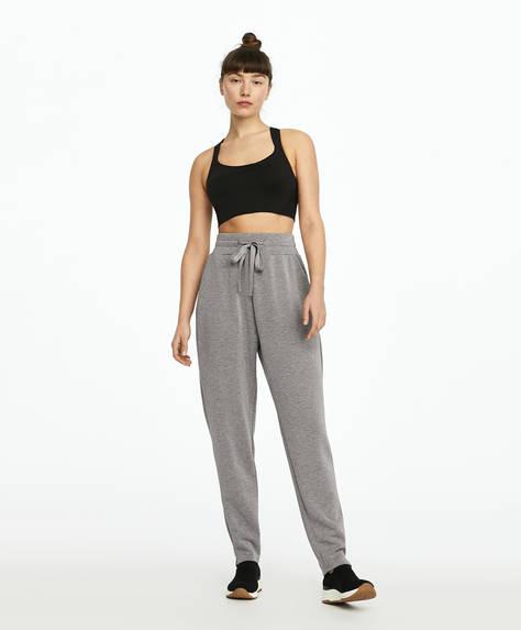 Pantalon de jogging gris au toucher doux
