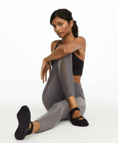 Pack of two pairs of socks for yoga and pilates