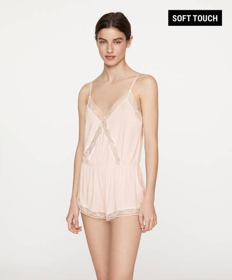 Modal lingerie jumpsuit