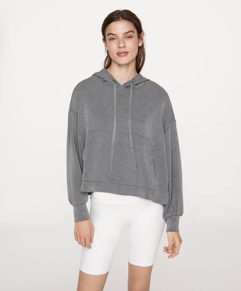 Dark grey soft-touch sweatshirt
