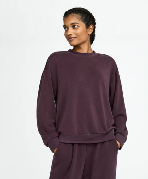 Purple soft touch sweatshirt