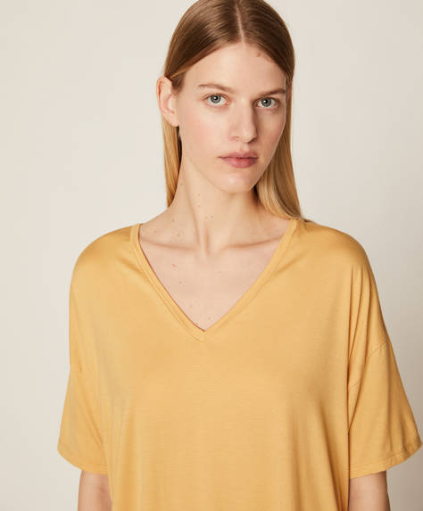 Yellow micromodal T-shirt