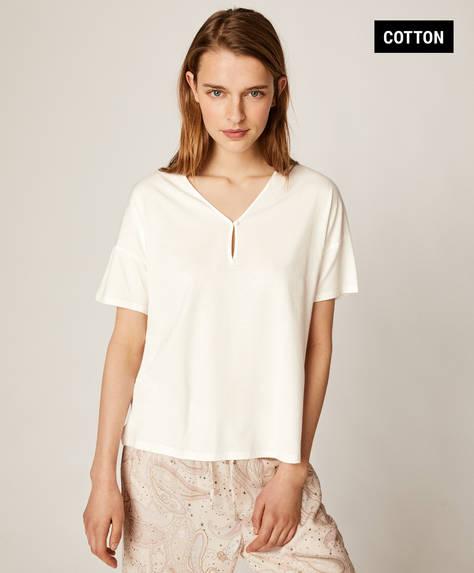 Shirt met kosmos-paisleyprint