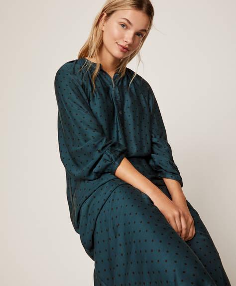 Camisa de dormir pics fons verd