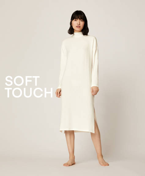 Soft touch white dress