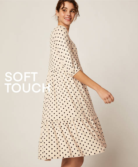 Soft touch polka dot dress