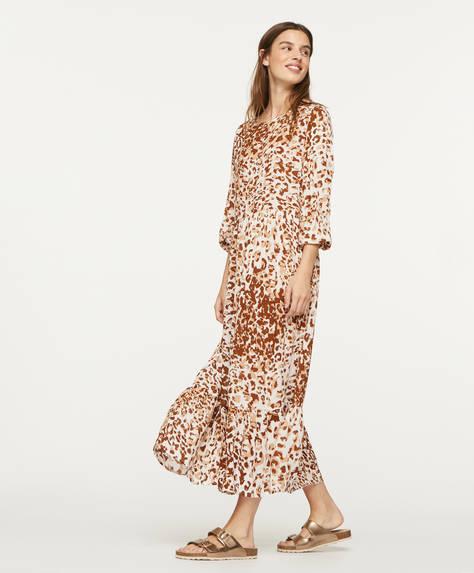 Oversize leopard print dress