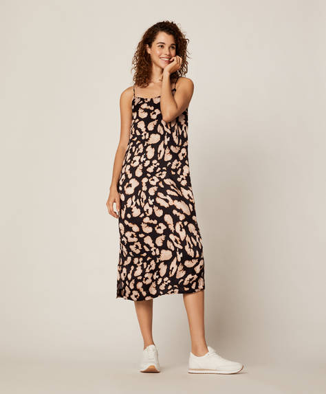 Leopard spot long dress