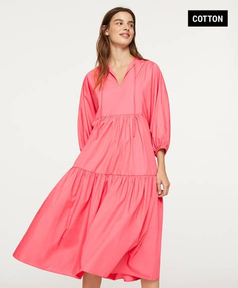 Oversize cotton dress