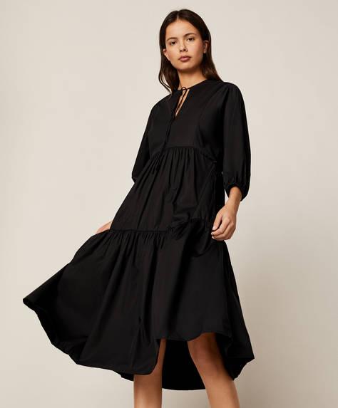 Vestido oversize de algodão