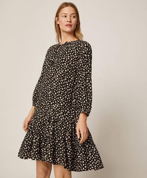 Kjole med print af margueritter